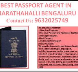 BEST PASSPORT AGENT IN MARATHAHALLI BENGALURU 9632025749