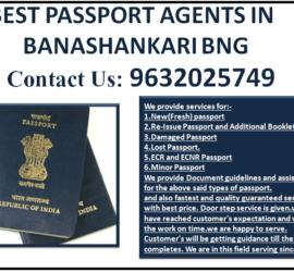 BEST PASSPORT AGENTS IN BANASHANKARI BNG 9632025749