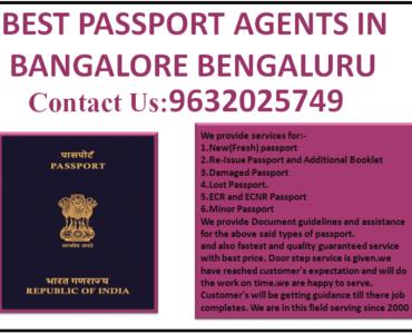BEST PASSPORT AGENTS IN BANGALORE BENGALURU 9632025749