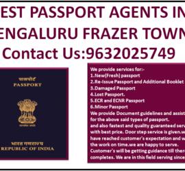 Best Passport Agents in Bengaluru Frazer Town 9632025749