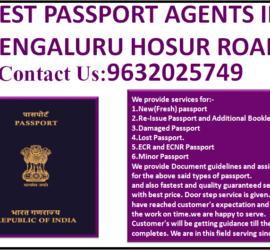 BEST PASSPORT AGENTS IN BENGALURU HOSUR ROAD 9632025749