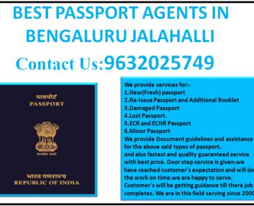 BEST PASSPORT AGENTS IN BENGALURU JALAHALLI 9632025749