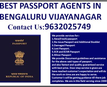 BEST PASSPORT AGENTS IN BENGALURU VIJAYANAGAR 9632025749