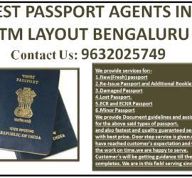 BEST PASSPORT AGENTS IN BTM LAYOUT BENGALURU 9632025749