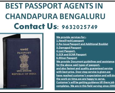BEST PASSPORT AGENTS IN CHANDAPURA BENGALURU 9632025749