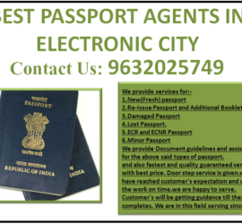 BEST PASSPORT AGENTS IN ELECTRONIC CITY 9632025749