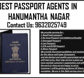 BEST PASSPORT AGENTS IN HANUMANTHA NAGAR 9632025749