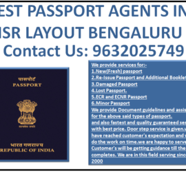 BEST PASSPORT AGENTS IN HSR LAYOUT BENGALURU 9632025749