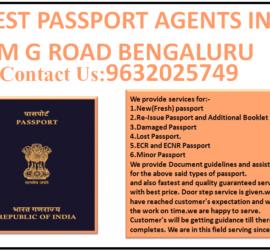 BEST PASSPORT AGENTS IN M G ROAD BENGALURU 9632025749