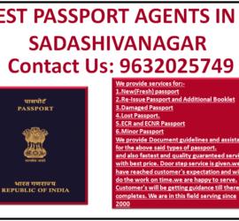 BEST PASSPORT AGENTS IN SADASHIVANAGAR 9632025749