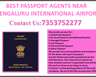 BEST PASSPORT AGENTS NEAR BENGALURU INTERNATIONAL AIRPORT 7353752277