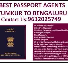 BEST PASSPORT AGENTS TUMKUR TO BENGALURU 9632025749