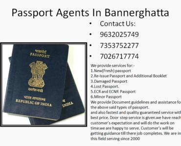 Best Passport Agents in bannerghatta Road 9632025749