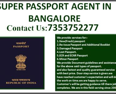 SUPER PASSPORT AGENT IN BANGALORE 7353752277