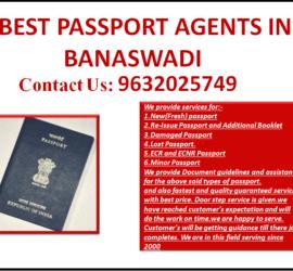BEST PASSPORT AGENTS IN BANASWADI 9632025749