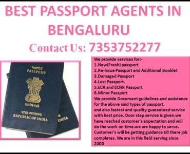 BEST PASSPORT AGENTS IN BENGALURU 7353752277