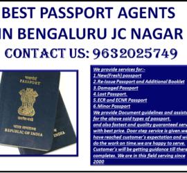BEST PASSPORT AGENTS IN BENGALURU JC NAGAR 9632025749