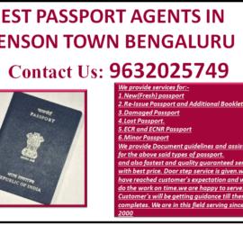 BEST PASSPORT AGENTS IN BENSON TOWN BENGALURU 9632025749