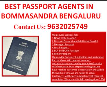 BEST PASSPORT AGENTS IN BOMMASANDRA BENGALURU 9632025749