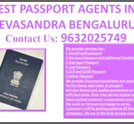 BEST PASSPORT AGENTS IN DEVASANDRA BENGALURU 9632025749