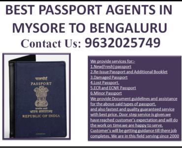 BEST PASSPORT AGENTS IN MYSORE TO BENGALURU 9632025749