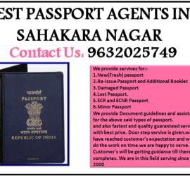 BEST PASSPORT AGENTS IN SAHAKARA NAGAR 9632025749