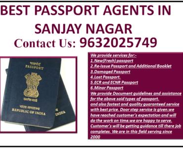 BEST PASSPORT AGENTS IN SANJAY NAGAR 9632025749