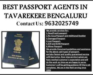 BEST PASSPORT AGENTS IN TAVAREKERE BENGALURU 9632025749