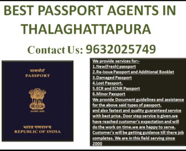 BEST PASSPORT AGENTS IN THALAGHATTAPURA 9632025749