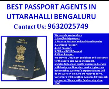 BEST PASSPORT AGENTS IN UTTARAHALLI BENGALURU 9632025749