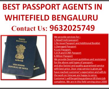 BEST PASSPORT AGENTS IN WHITEFIELD BENGALURU 9632025749