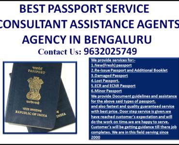 BEST PASSPORT SERVICE CONSULTANT ASSISTANCE AGENTS AGENCY IN BENGALURU 9632025749