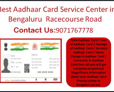 Best Aadhaar Card Service Center in Bengaluru Racecourse Road 9071767778