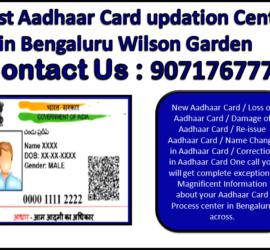 Best Aadhaar Card updation Center in Bengaluru Wilson Garden 9071767778