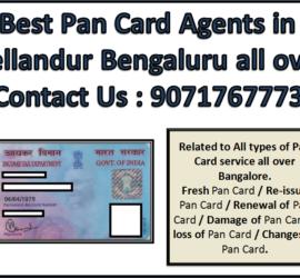 Best Pan Card Agents in Bellandur Bengaluru all over 9071767773