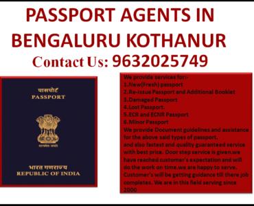BEST PASSPORT AGENTS IN BENGALURU KOTHANUR 9632025749