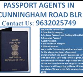 BEST PASSPORT AGENTS IN CUNNINGHAM ROAD BLR 9632025749