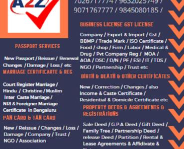 Best Apostille Marriage Birth Education Certificate Attestation in Bengaluru 9071767775
