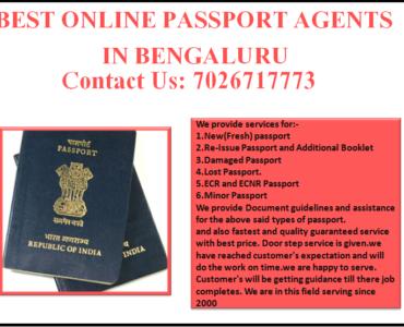 BEST ONLINE PASSPORT AGENTS IN BENGALURU 7026717773