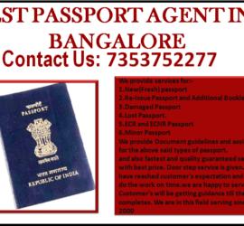 BEST PASSPORT AGENT IN BANGALORE 7353752277