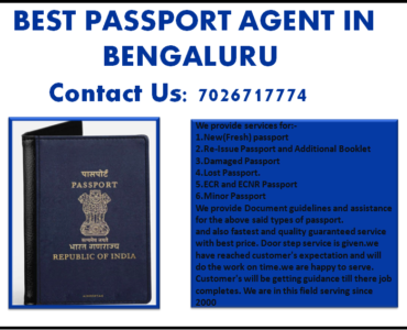 BEST PASSPORT AGENT IN BENGALURU 7026717774