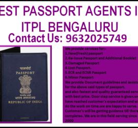 BEST PASSPORT AGENTS IN ITPL BENGALURU 9632025749