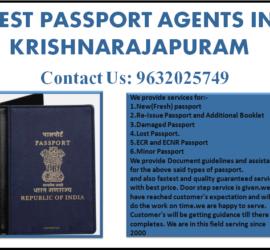 BEST PASSPORT AGENTS IN KRISHNARAJAPURAM 9632025749