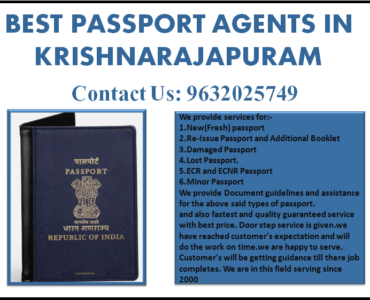 BEST PASSPORT AGENTS IN KRISHNARAJAPURAM 9632025749