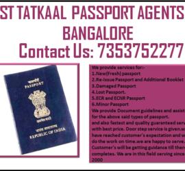 BEST TATKAAL PASSPORT AGENTS IN BANGALORE 7353752277