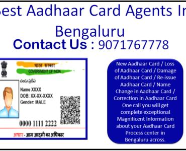 Best Aadhaar Card Agents In Bengaluru 9071767778