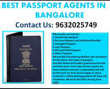 BEST PASSPORT AGENTS IN BANGALORE 9632025749