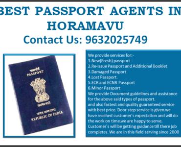 BEST PASSPORT AGENTS IN HORAMAVU 9632025749