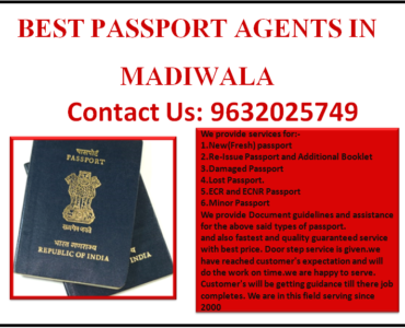BEST PASSPORT AGENTS IN MADIWALA 9632025749