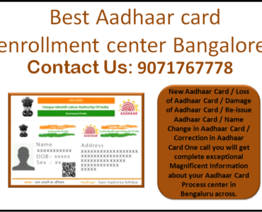 Best Aadhaar card enrollment center bangalore
